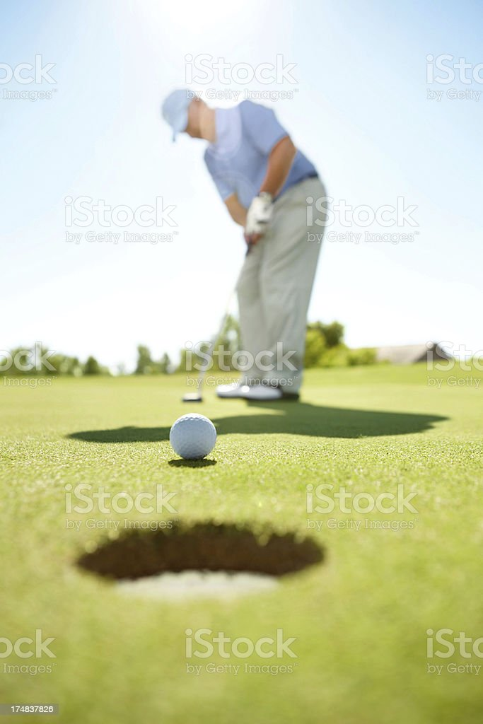 He's lined it up perfectly royalty-free stock photo