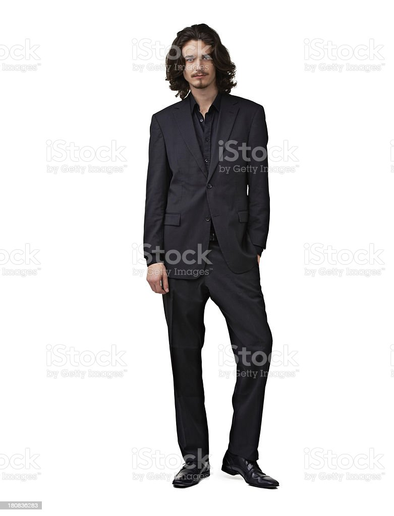 He's looking great...and he knows it! stock photo