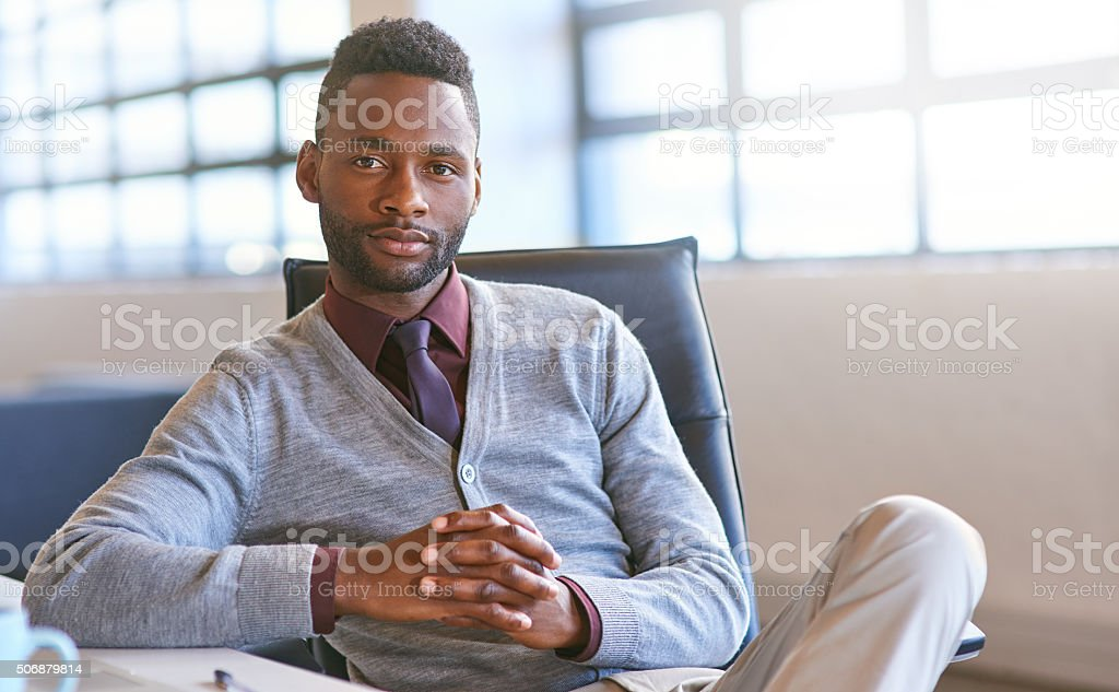 He's made it big stock photo