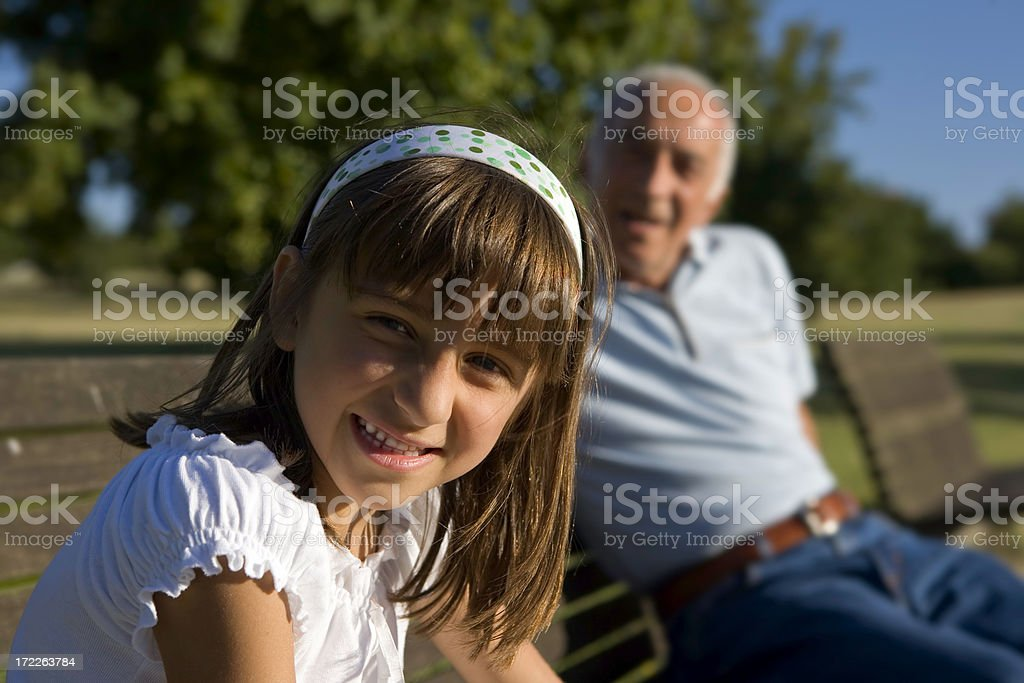 He's my grandfather royalty-free stock photo