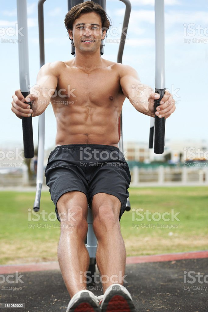 He's never been in better shape! royalty-free stock photo