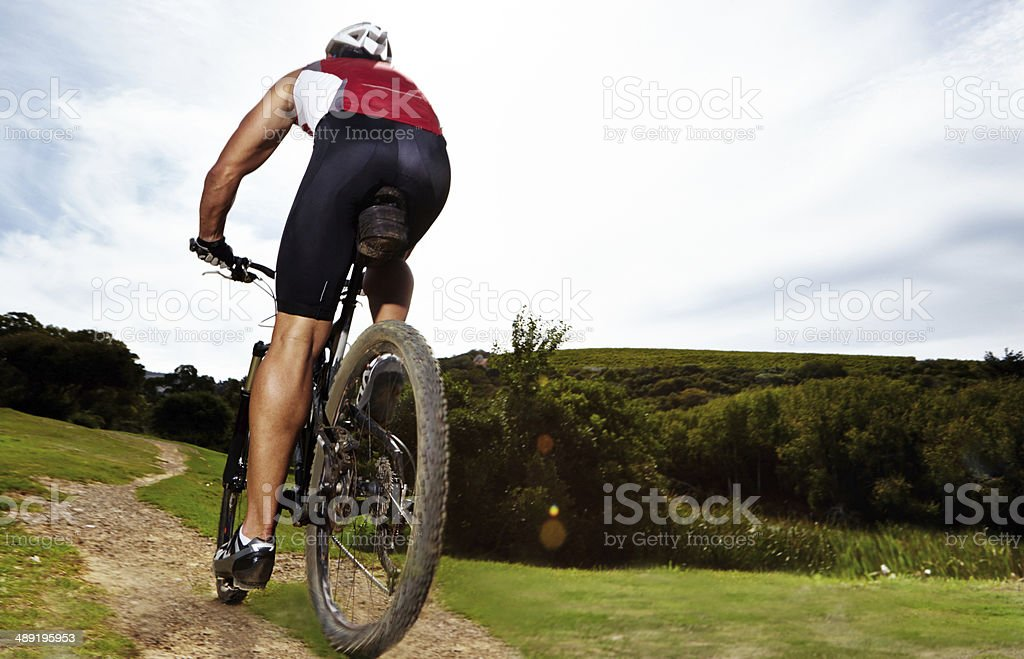 He's on the path to fitness royalty-free stock photo