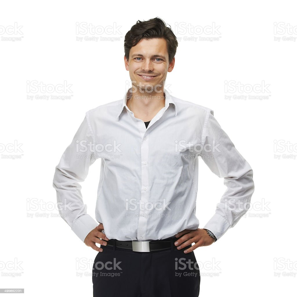 He's one confident guy royalty-free stock photo