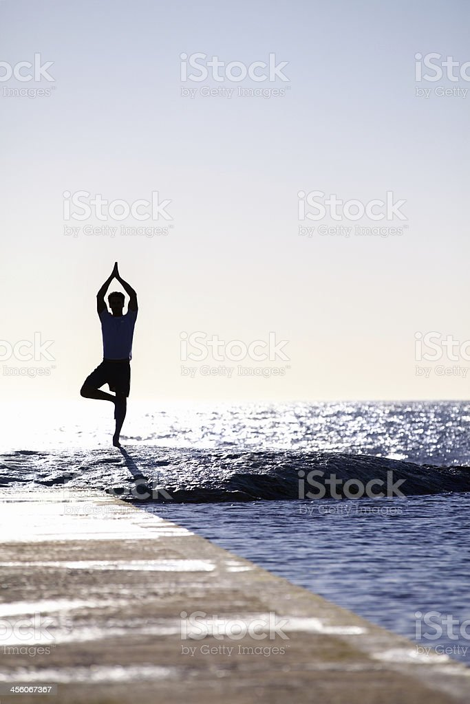 He's one with the sea stock photo