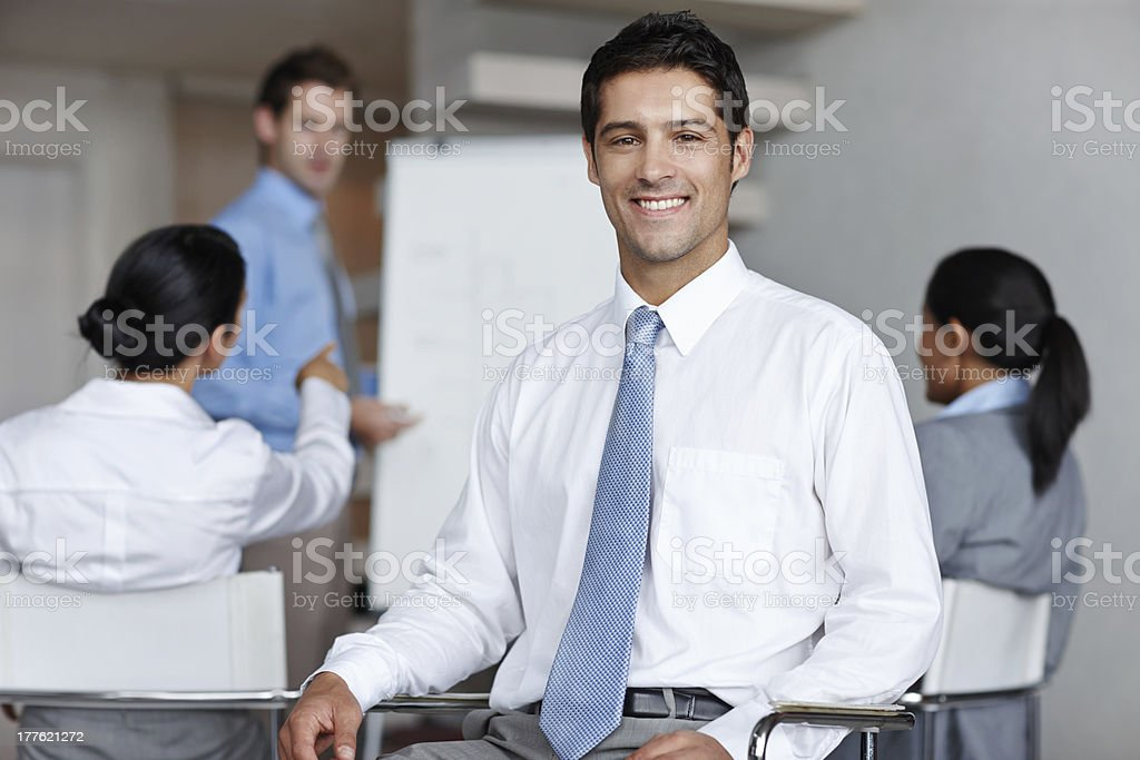 He's part of a dynamic business team royalty-free stock photo