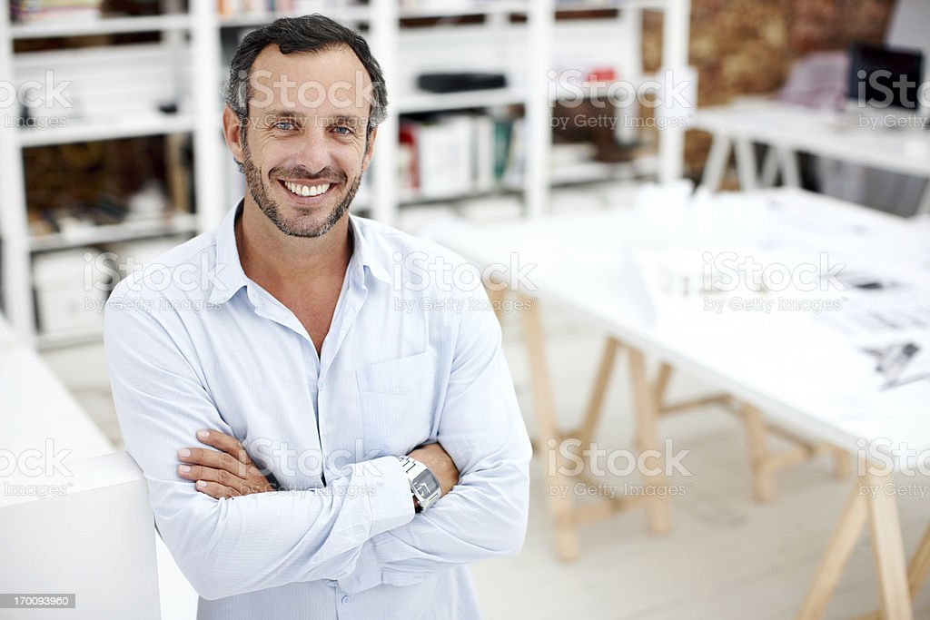 He's passionate about his job royalty-free stock photo
