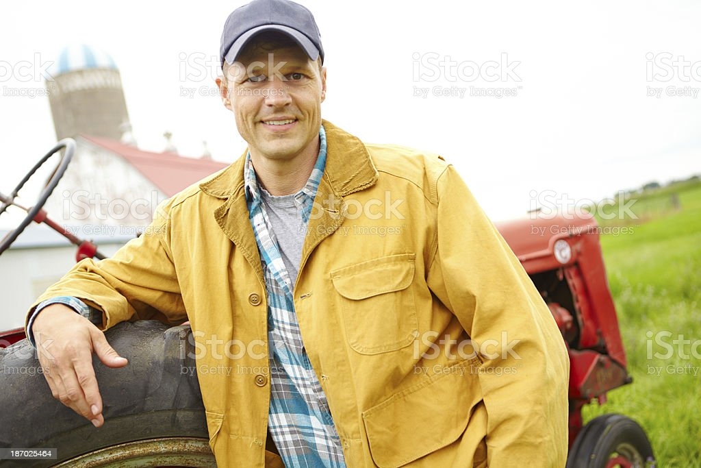 He's passionate about the farming industry royalty-free stock photo