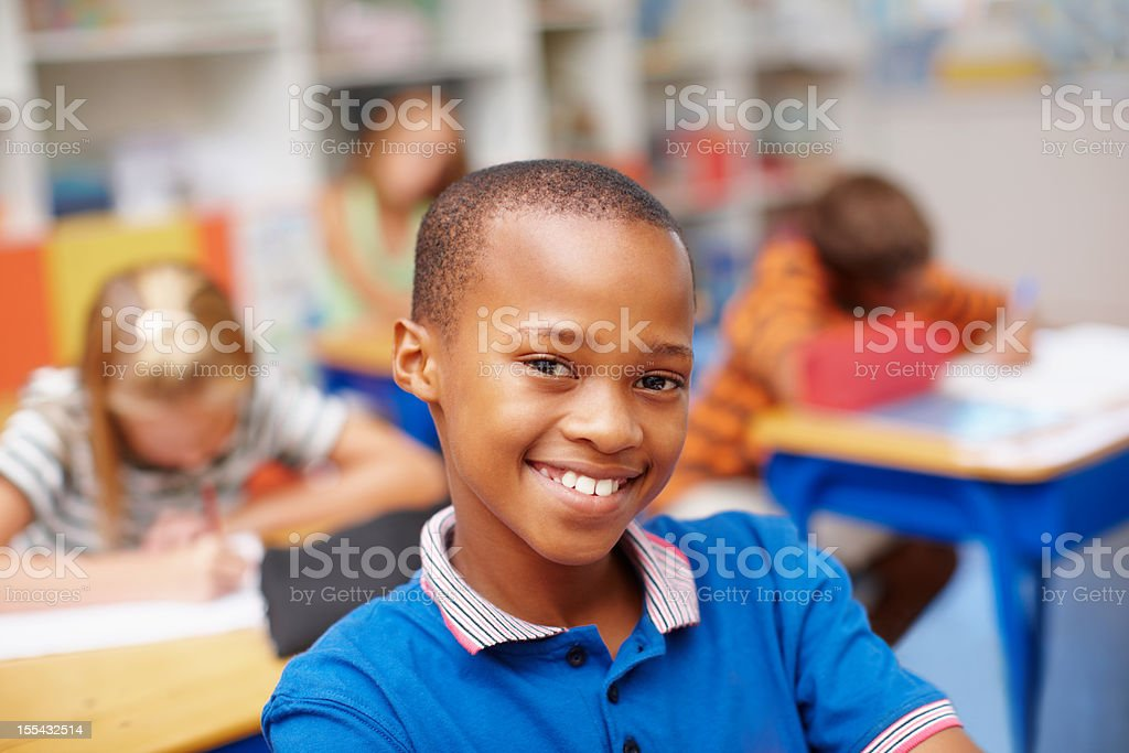 He's prepared for a bright future stock photo