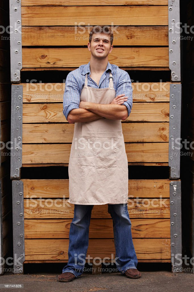 He's proud of the work he has done royalty-free stock photo
