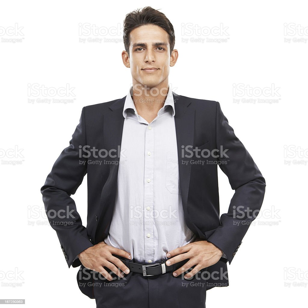 He's ready for any business challenge royalty-free stock photo