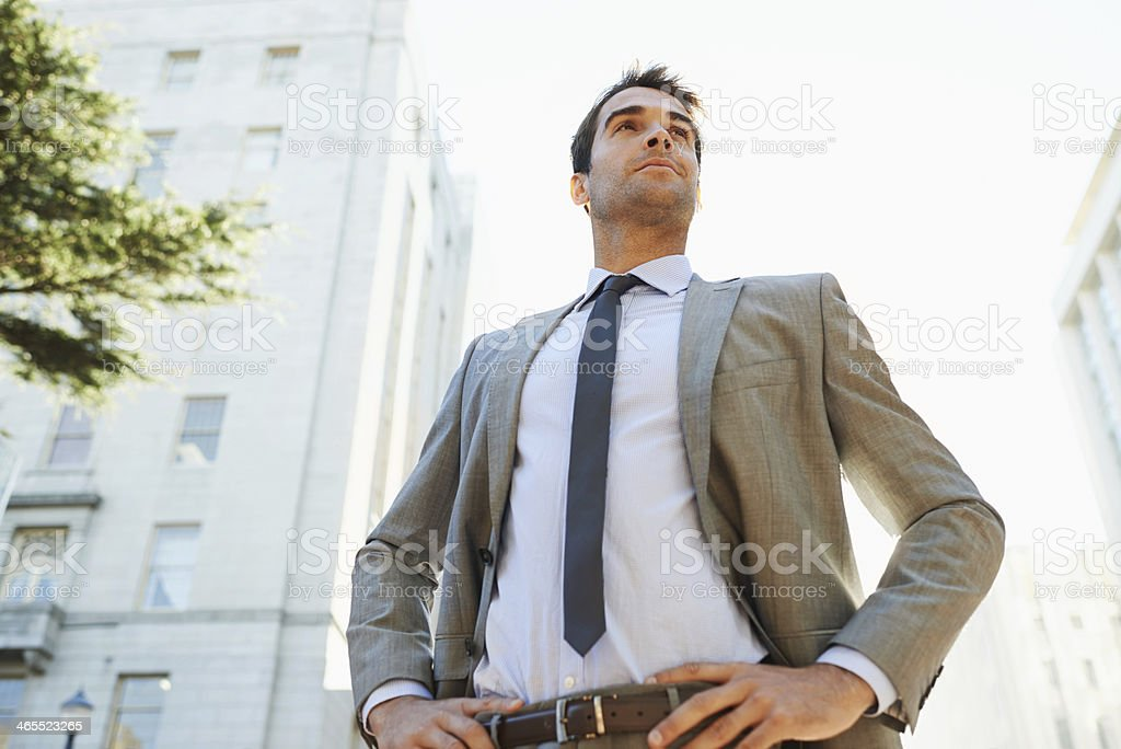 He's ready to conquer Wall Street! royalty-free stock photo