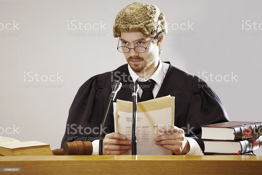 He's ready to make a ruling royalty-free stock photo