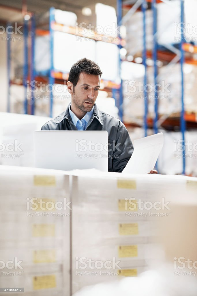 He's responsible for every delivery royalty-free stock photo