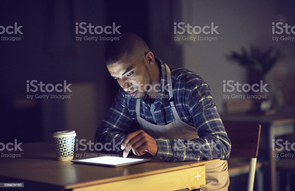 He's right on target with his business stock photo