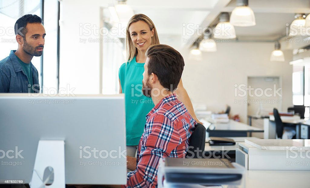 He's sharing his ideas royalty-free stock photo