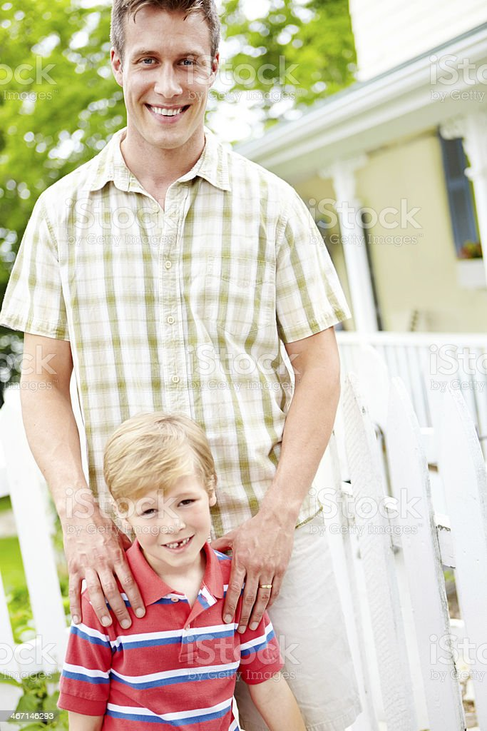 He's so proud of his son royalty-free stock photo