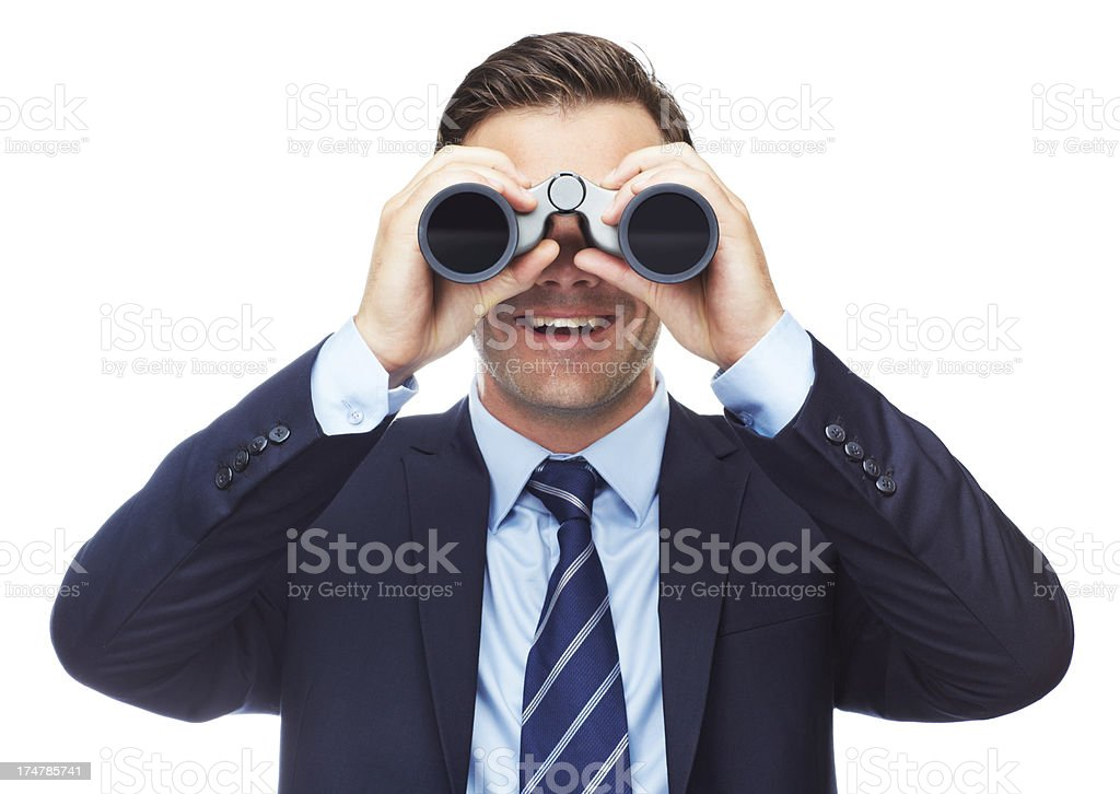 He's spotted a great business opportunity royalty-free stock photo
