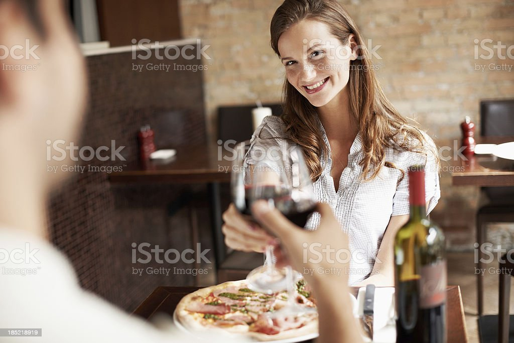 He's such a romantic! royalty-free stock photo
