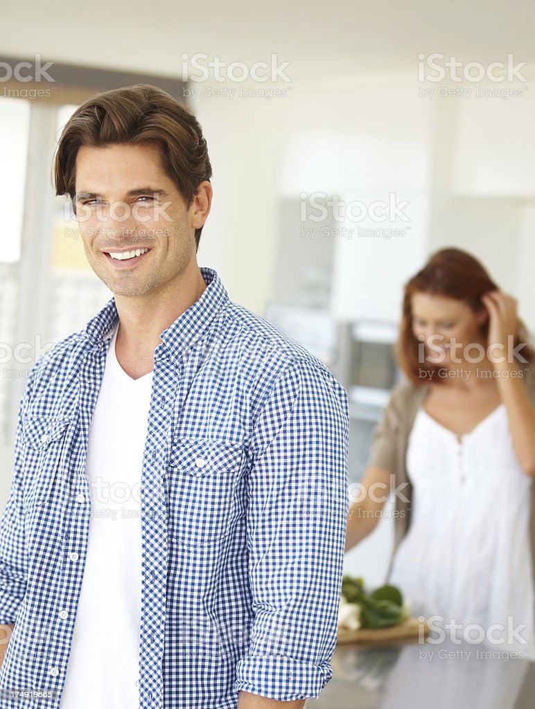 He's such a supportive and loving husband royalty-free stock photo