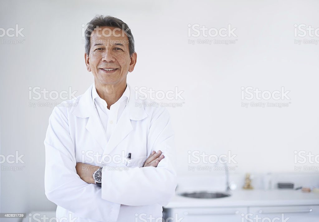 He's the best dentist you could ask for stock photo