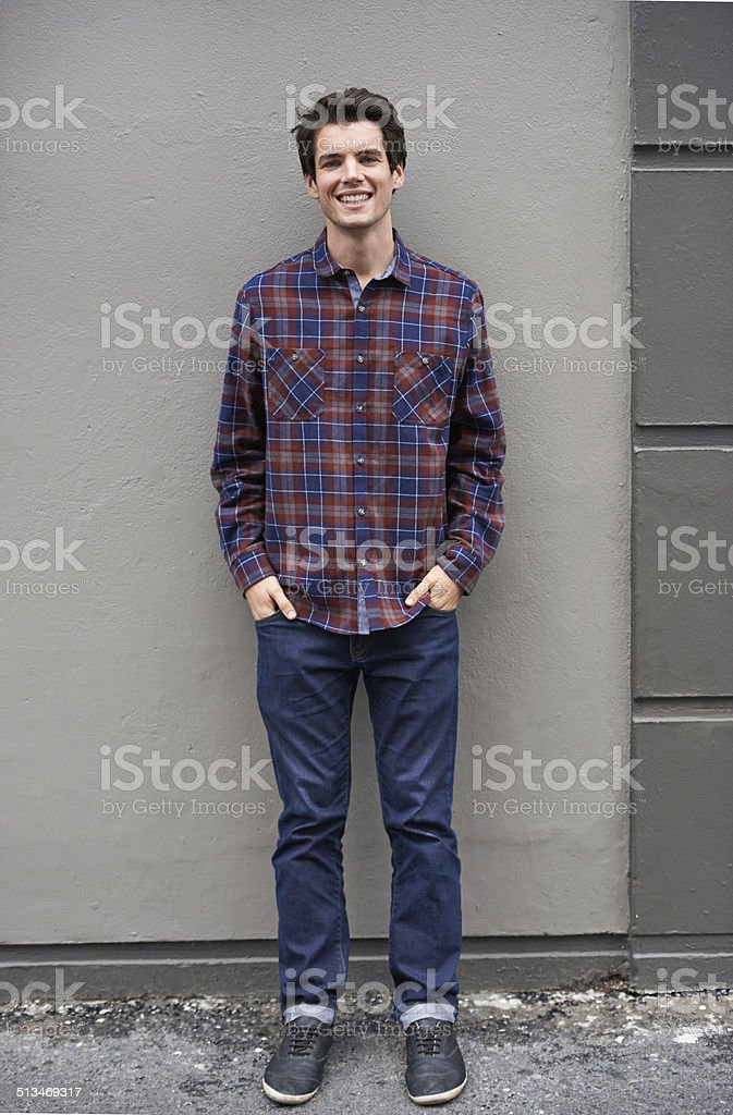He's the best dressed on the block stock photo