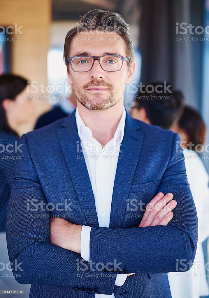 He's the boss stock photo