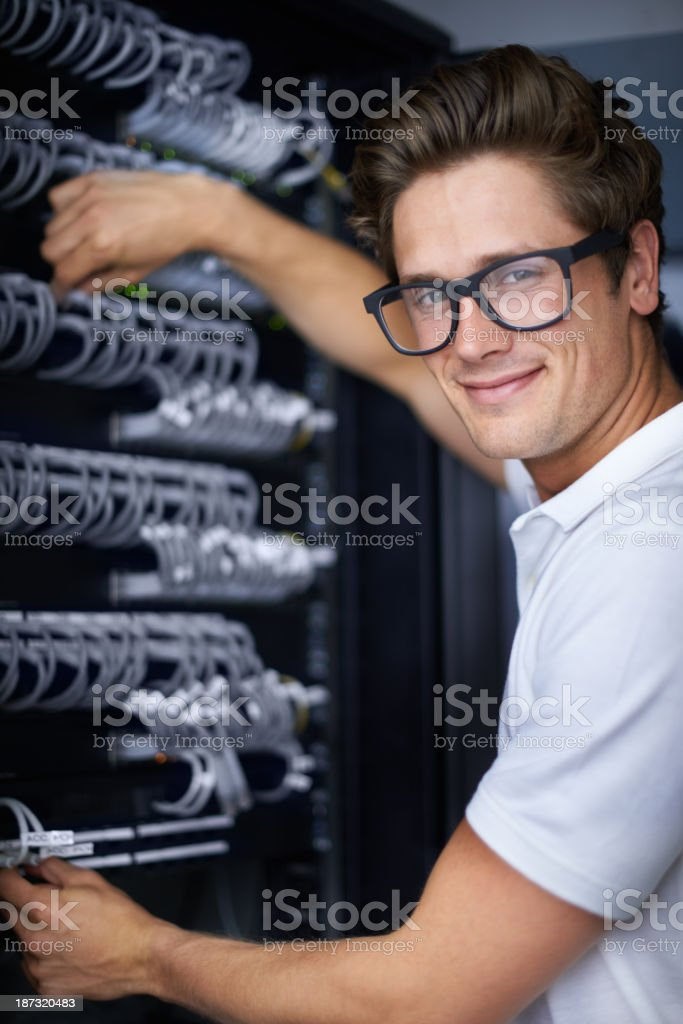 He's the man for any job royalty-free stock photo