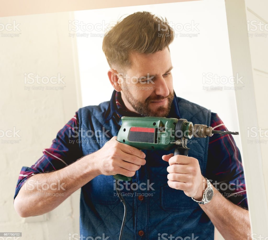 He's the man for the job stock photo