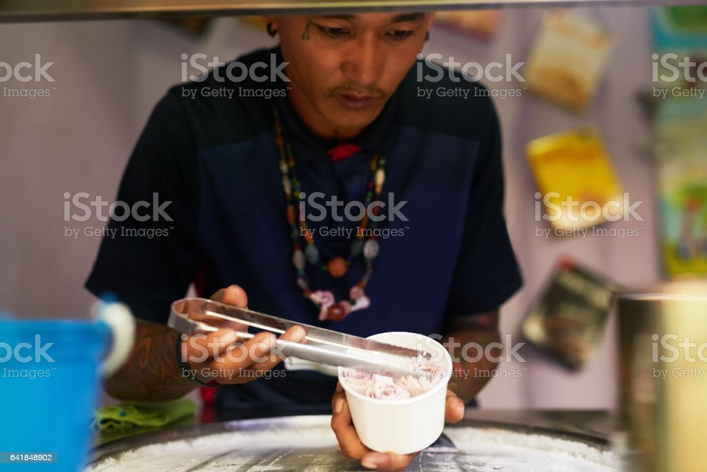 He's the master of sweets stock photo