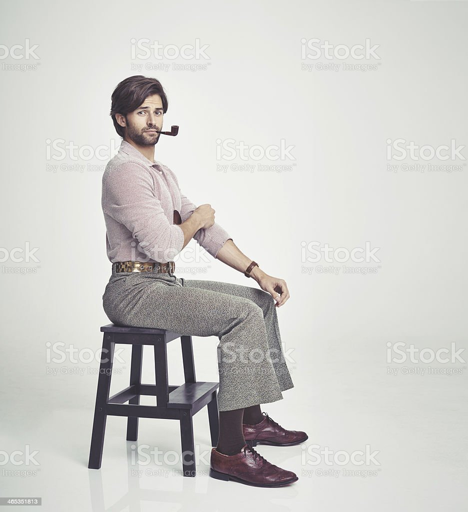 He's the perfect 70s man royalty-free stock photo
