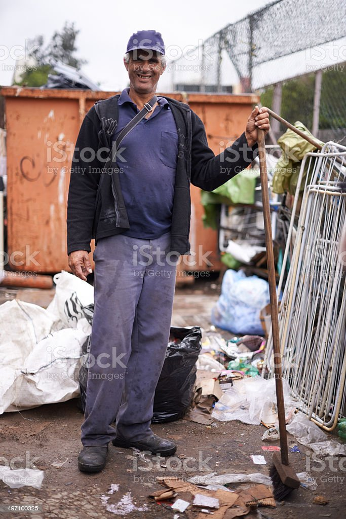 He's the reason our streets stay clean royalty-free stock photo