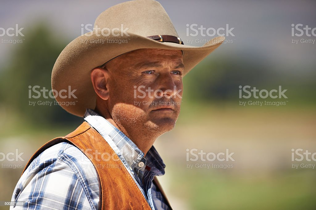 He's the roughest meanest cowboy in the West royalty-free stock photo