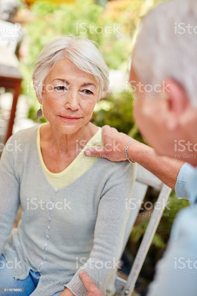 He's there when she needs him the most stock photo