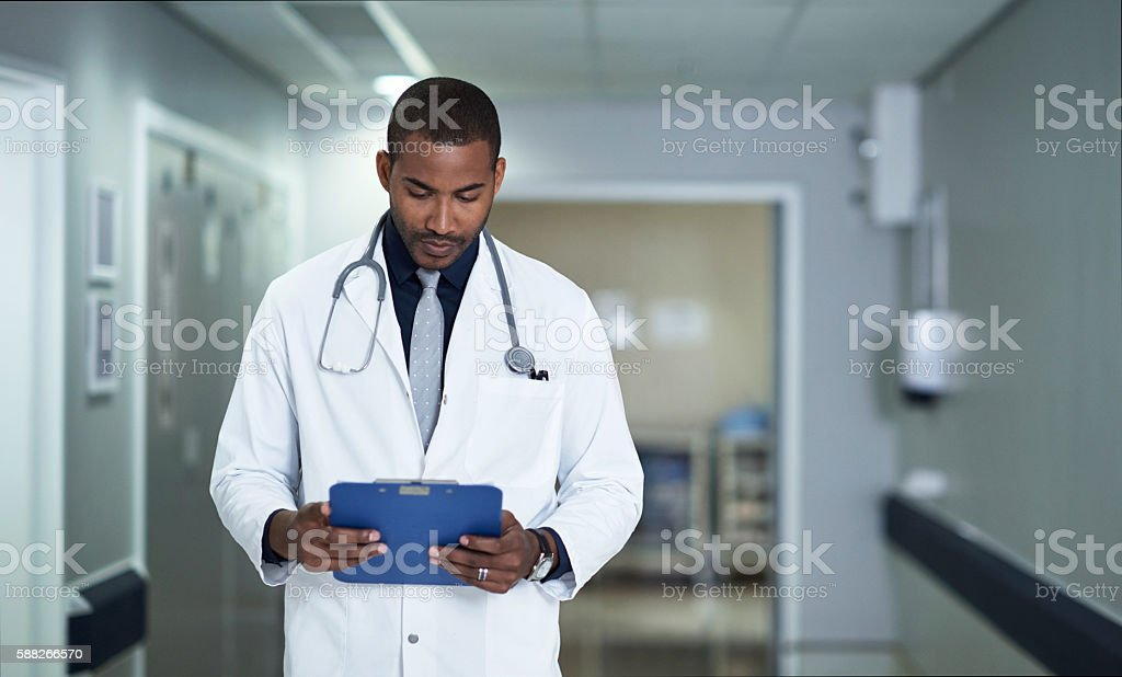 He's truly devoted to healing stock photo