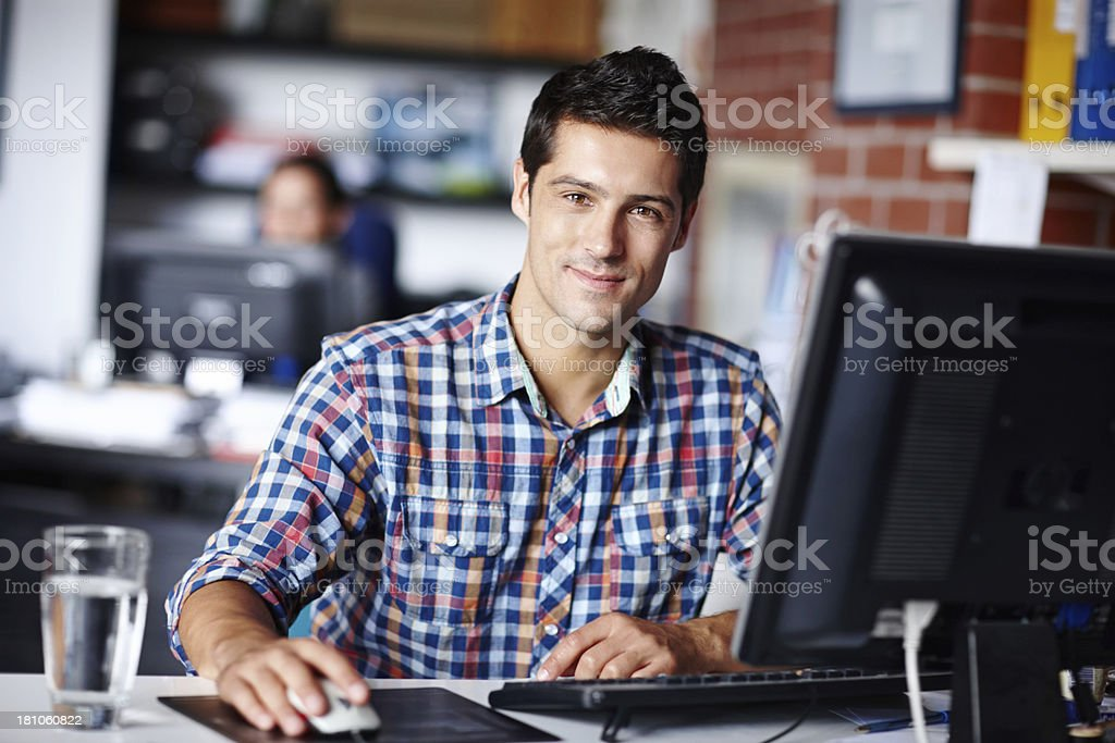 He's your man if you want the job done well! royalty-free stock photo