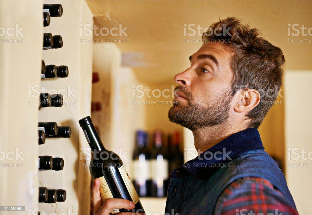He's your wine guy stock photo