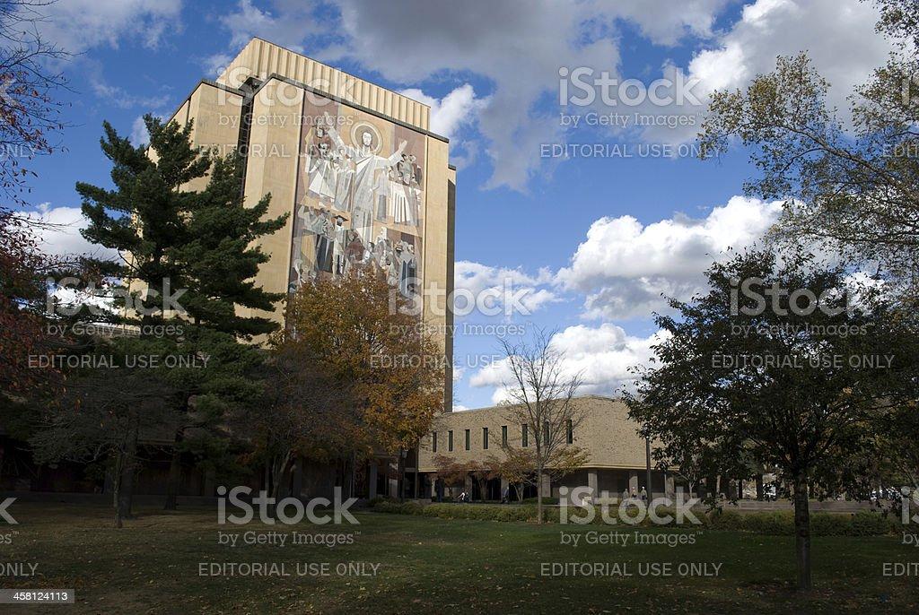 Hesburg Library stock photo
