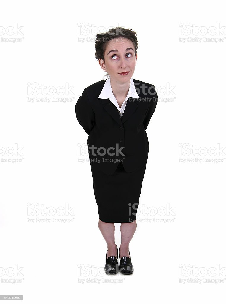 Hesitant business expression. royalty-free stock photo