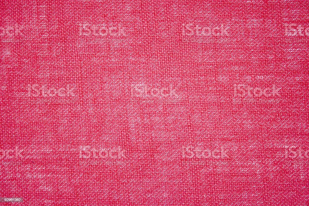 Hessian - Burlap Red Background royalty-free stock photo
