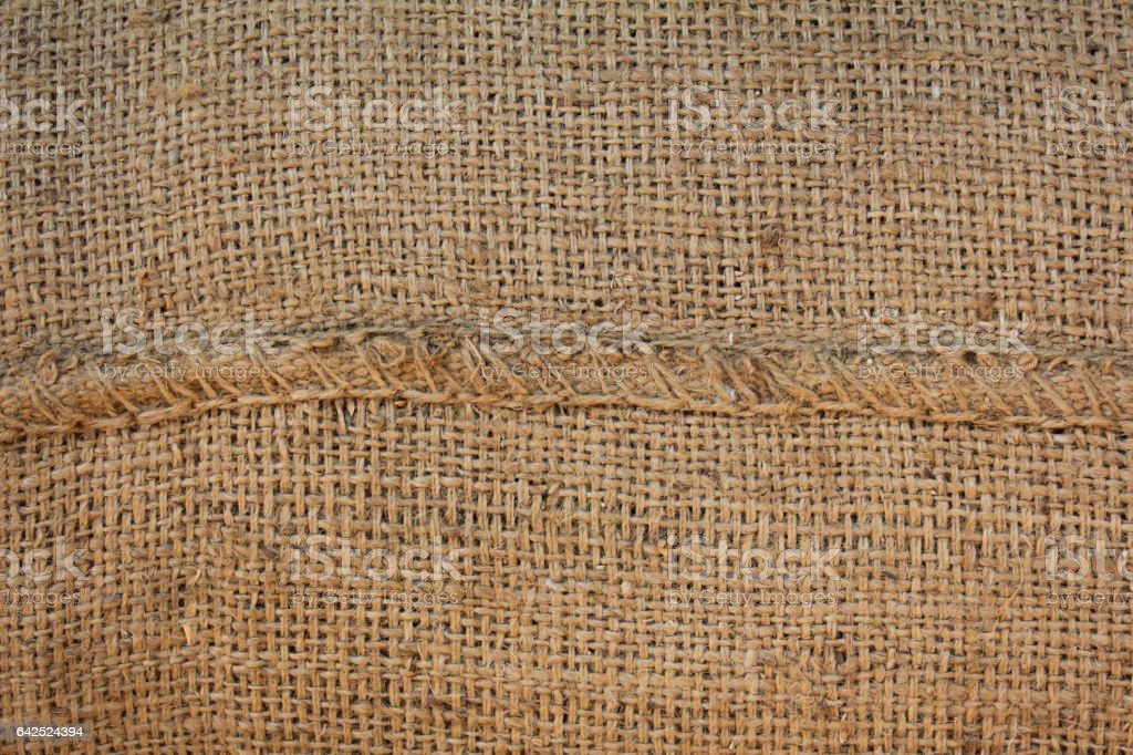 Hessian sackcloth woven texture pattern background stock photo