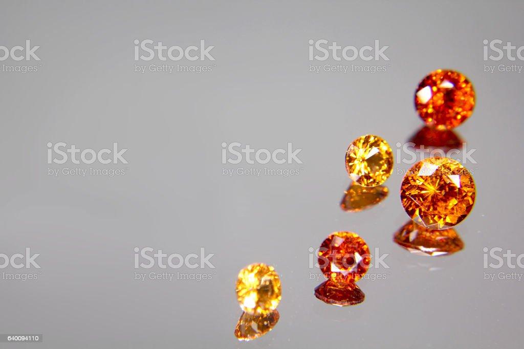 hessonite garnet stock photo