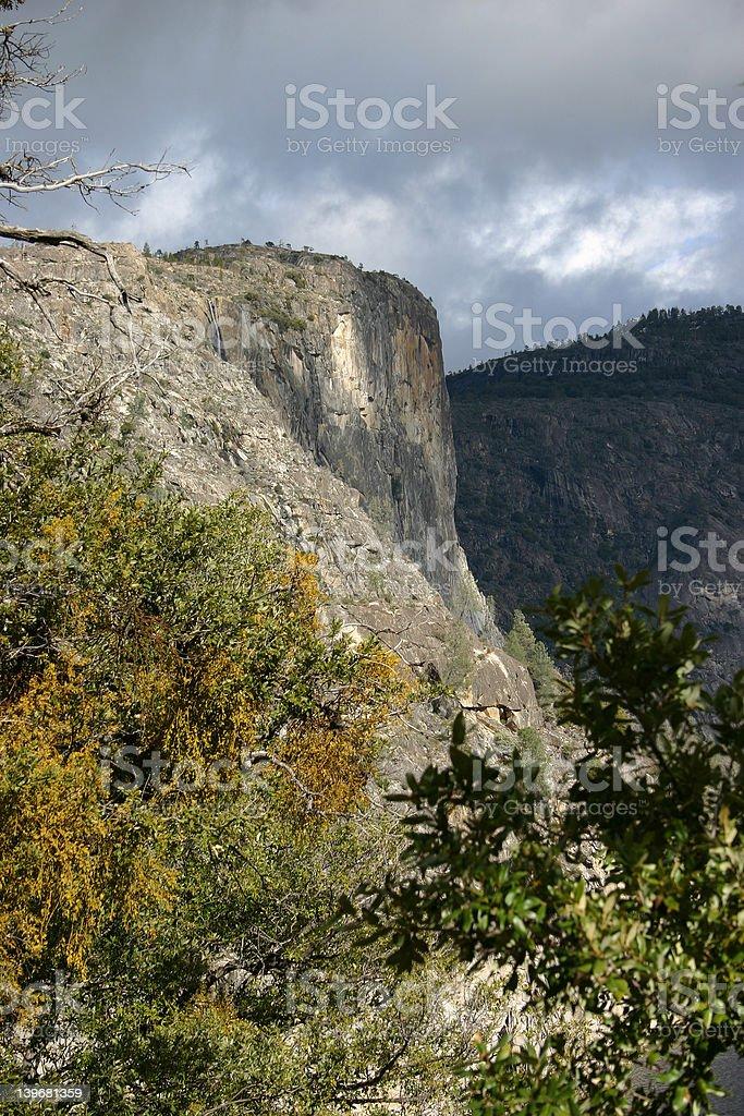 Hetch Hetchy Valley in Fall stock photo