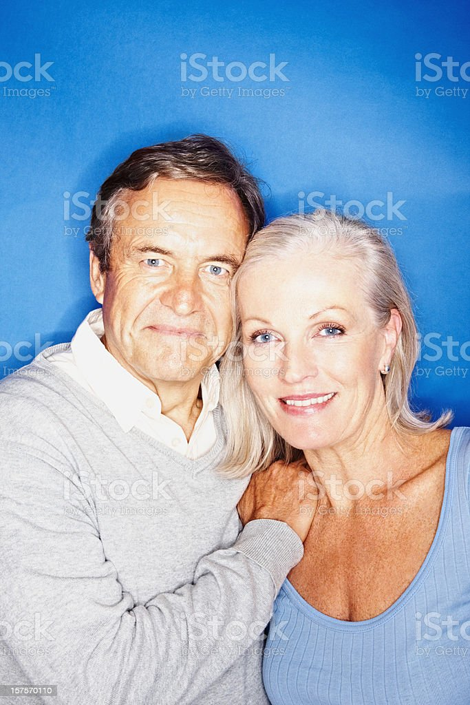 Heterosexual couple standing together royalty-free stock photo