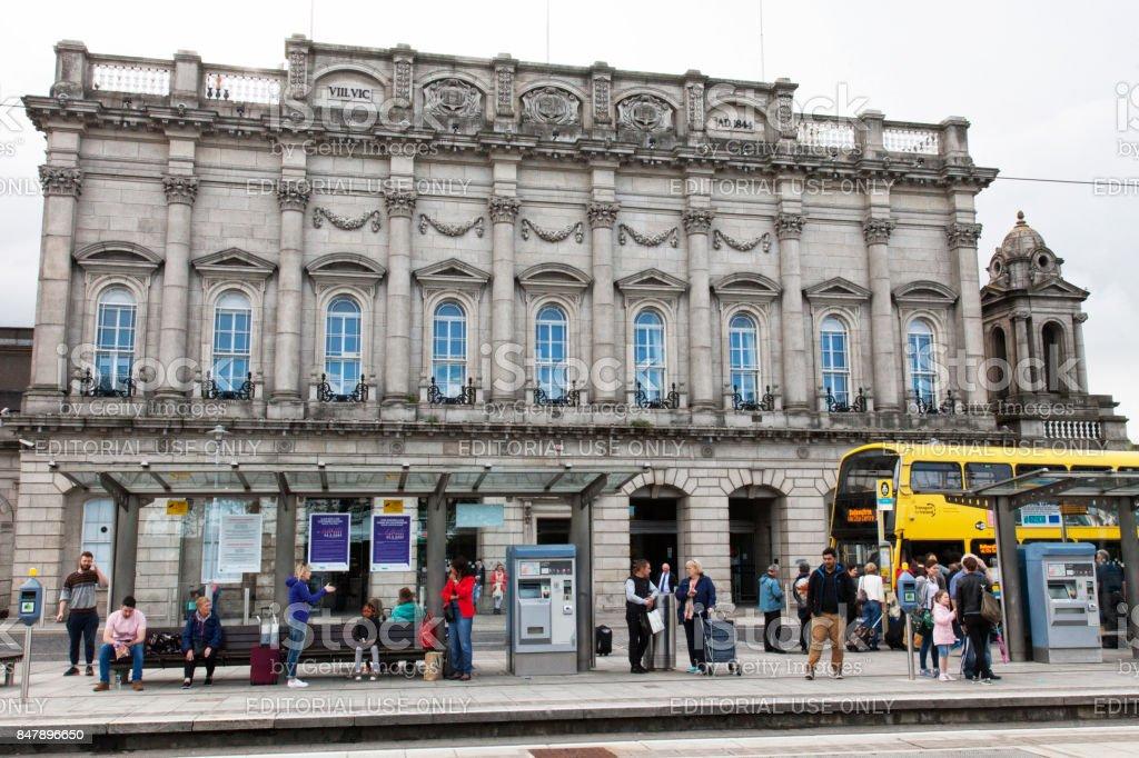 Heuston Railway Station in Dublin, Ireland stock photo