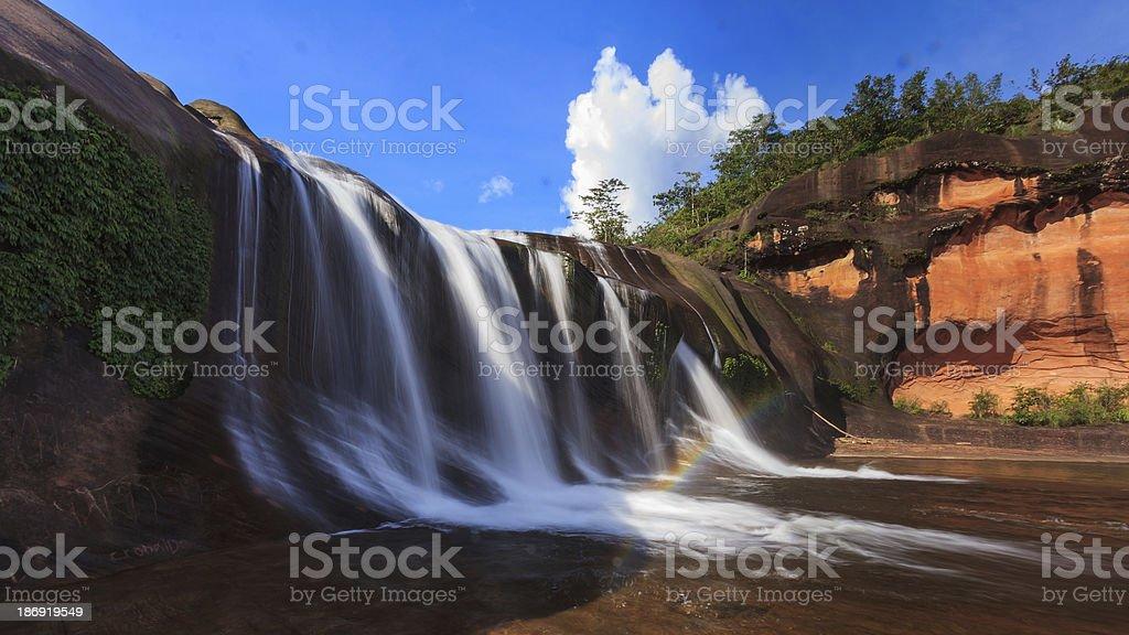 Heven waterfall stock photo