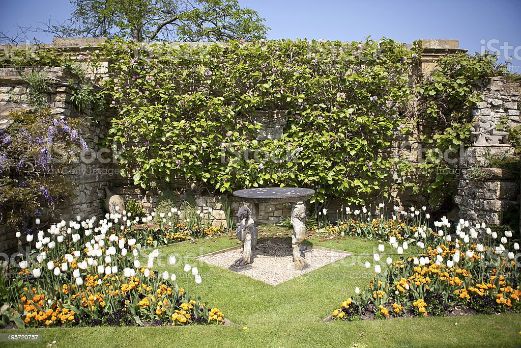 Hever Castle and gardens, UK stock photo