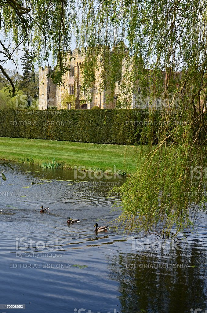 Hever Castle Garden stock photo