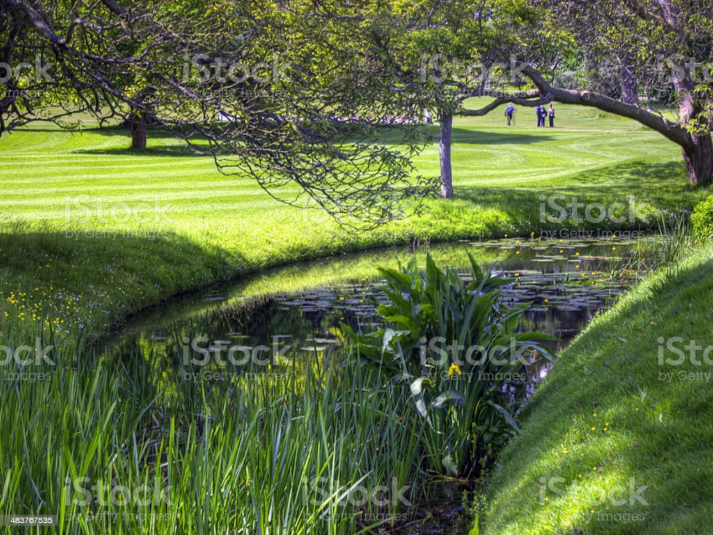 Hever castle grounds stock photo