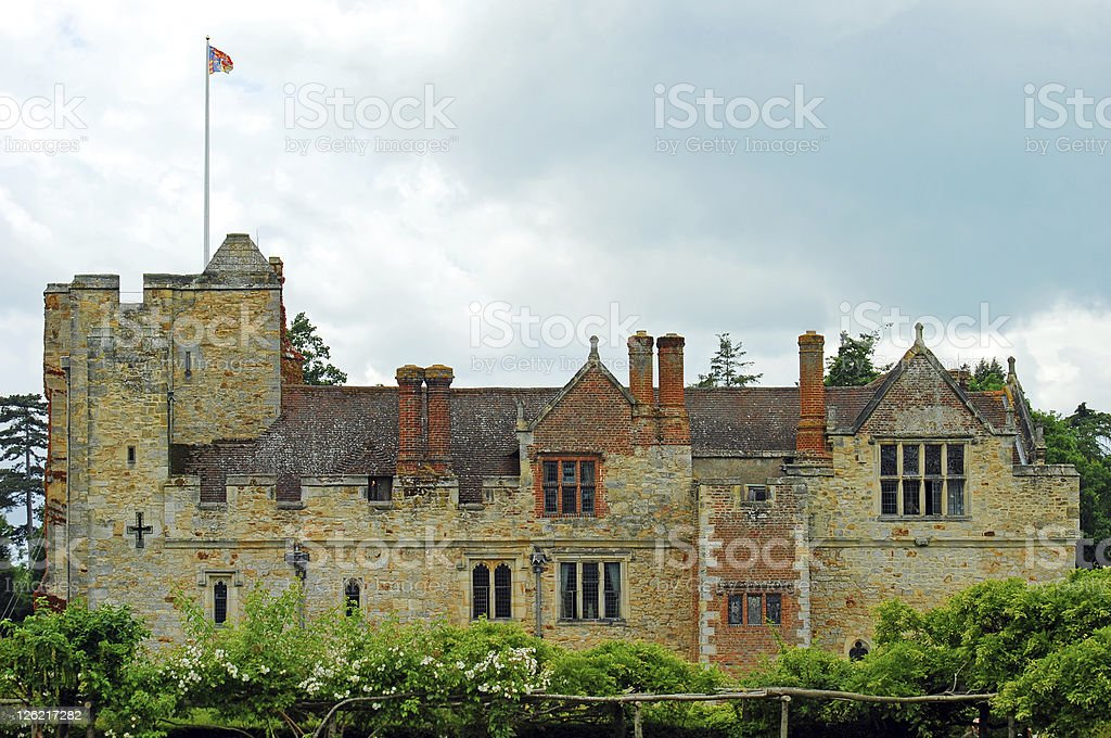 Hever castle side view stock photo