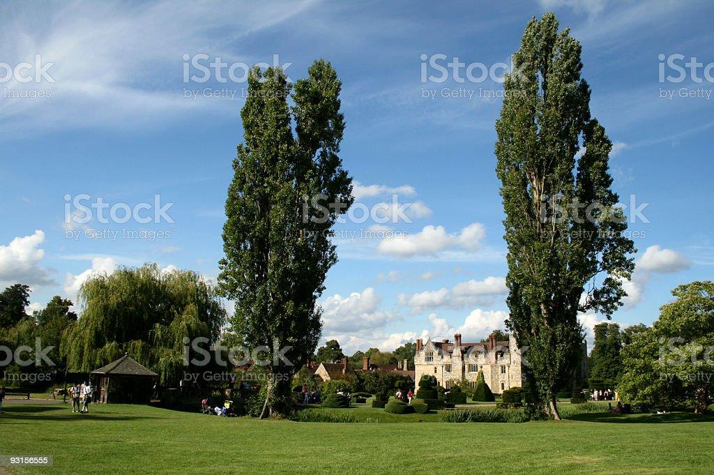 Hever Castle view stock photo